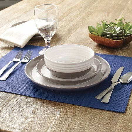 Gentil Better Homes And Garden Ashmoor 12 Piece Dinnerware Set, Beige