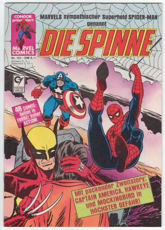 Germany: Die Spinne #151 VF/NM, 1987, $20