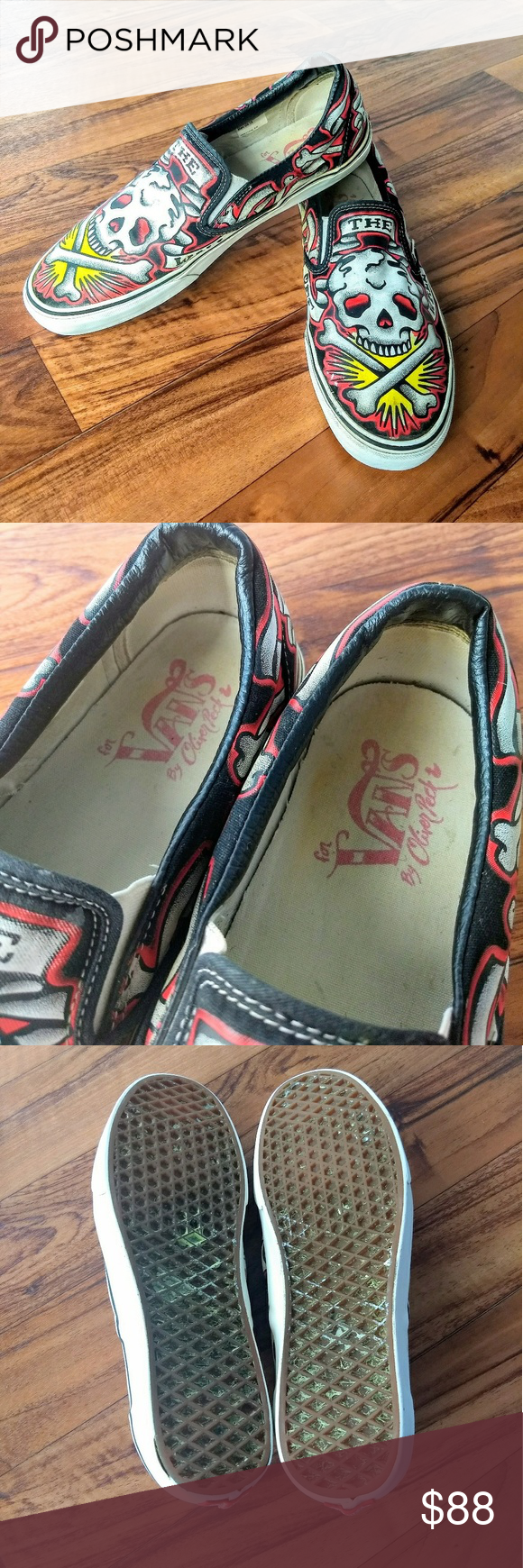 vans off the wall skull crossbones by olive peck vans on off the wall id=49560