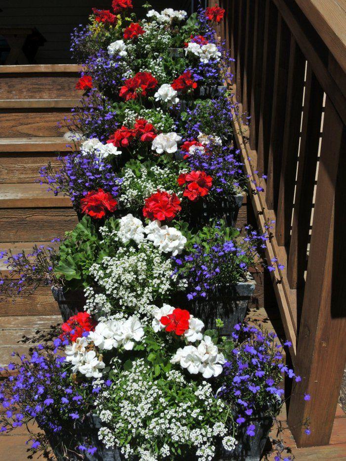 Garten Deko Ideen   Die Garten  Oder Haustreppe Mit Blumen Dekorieren