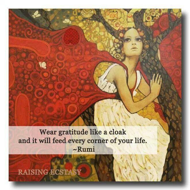 Rumi Quotes On Gratitude Quotesgram