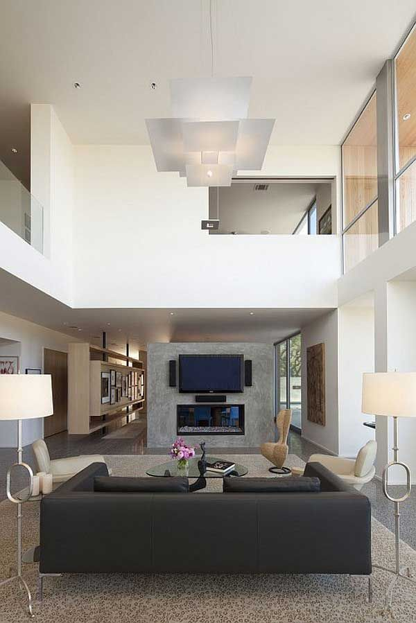 Contemporary Living Room Design Awesome Minimalist Living Room With High Ceiling Design Ideas  High Inspiration Design