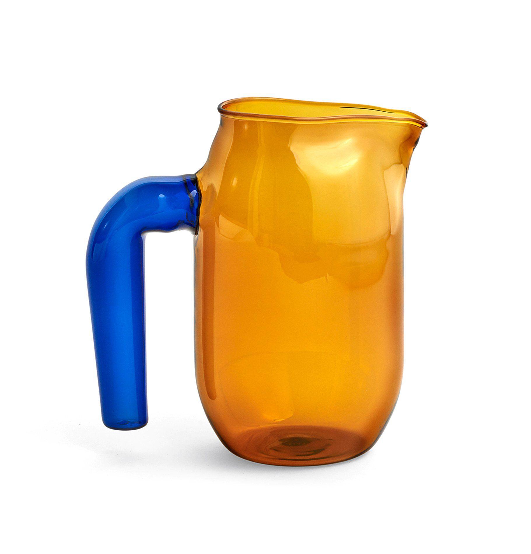 HAY Jug Small Amber Glass jug, Glass, Borosilicate glass