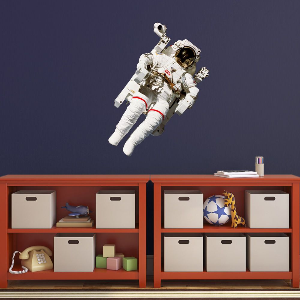 Astronaut Wall Sticker   NASA Space Theme Decal for Bedroom  Playroom and  Study. Astronaut Wall Sticker   NASA Space Theme Decal for Bedroom