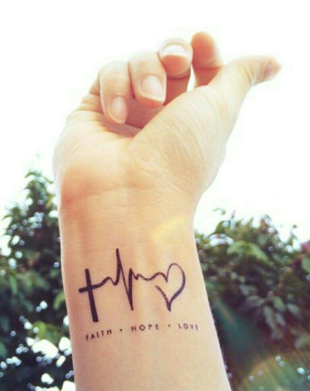 Tattoo Fe Esperanza Amor Its All About Me Tattoos Wrist