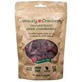 Honestly Cranberry – Unsweetened Dried Cranberries – no added sugars, juices, or oils (3 oz)