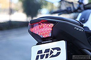 2015 2017 Yamaha Fz 07 Yzf R3 Integrated Sequential Led Tail Lights Smoke Lens Led Tail Lights Yamaha Fz Yamaha Fz 07