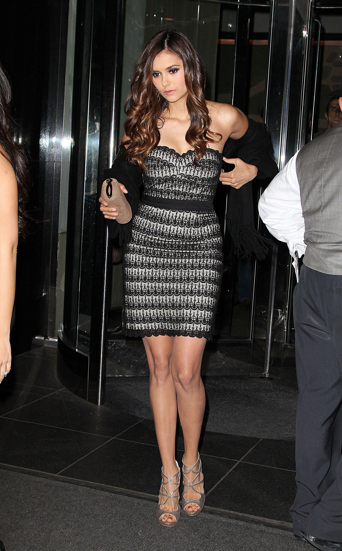 Nina dobrev she is so beautiful love her dress u peep toes m