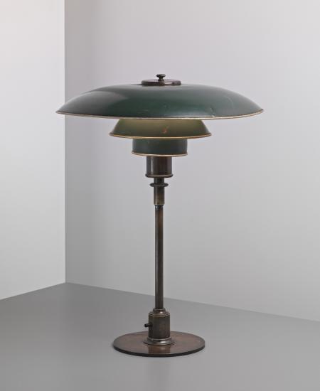 Poul Henningsen Ph 4 3 Desk Lamp C 1926 27 Painted Copper Brass Tubular Brass Bakelite 54 Cm 21 1 4 In Lamp Old Lamps Mid Century Modern Lighting