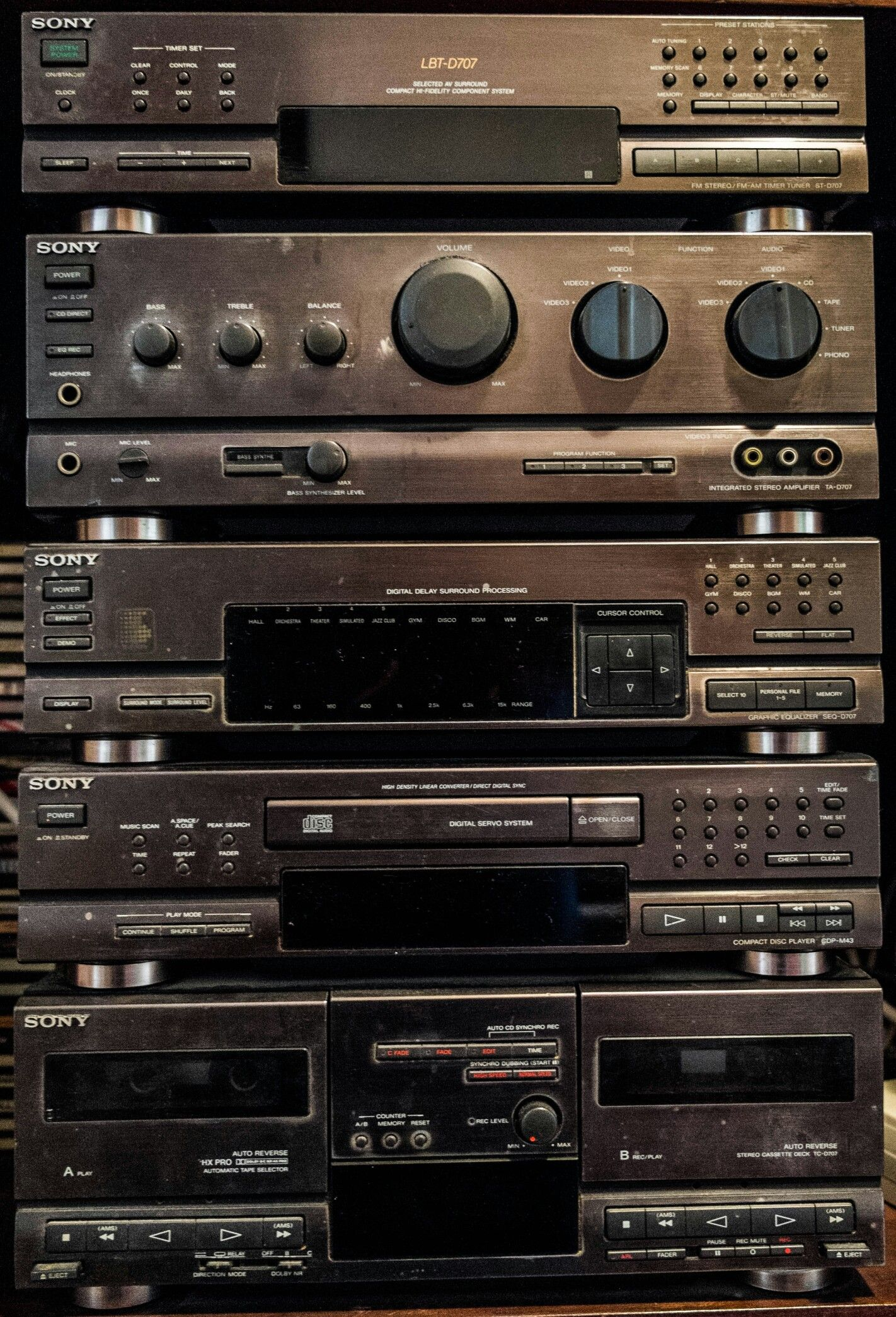 Sony Vintage Hifi Sony Lbt D707 Aparelho De Som Radio Antigo Retro