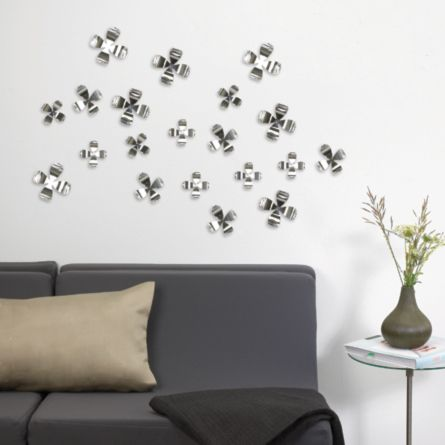 Silver Chrome Plated Wall Art - Wallflowers  $10.78