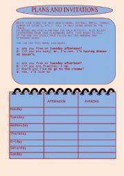English worksheet plans and invitations making invitations english worksheet plans and invitations stopboris Images
