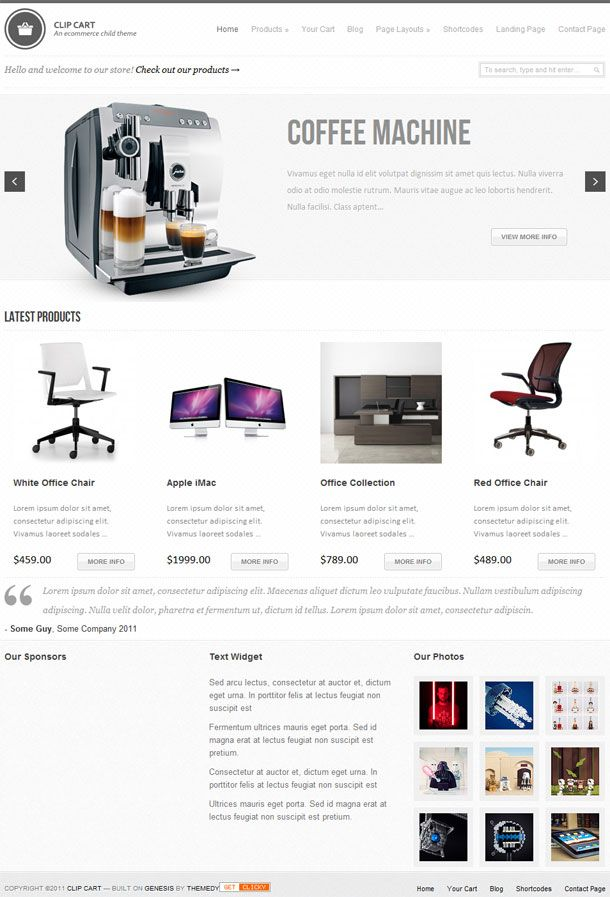 Modern e-Commerce style premium WordPress child theme developed for Genesis Framework and Thesis Theme from Themedy
