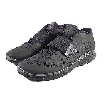 newest 5a0f7 88b7a Nike Jordan Flight Flex Trainer 2 Mens 768911-010 Black Training Shoes Size  9