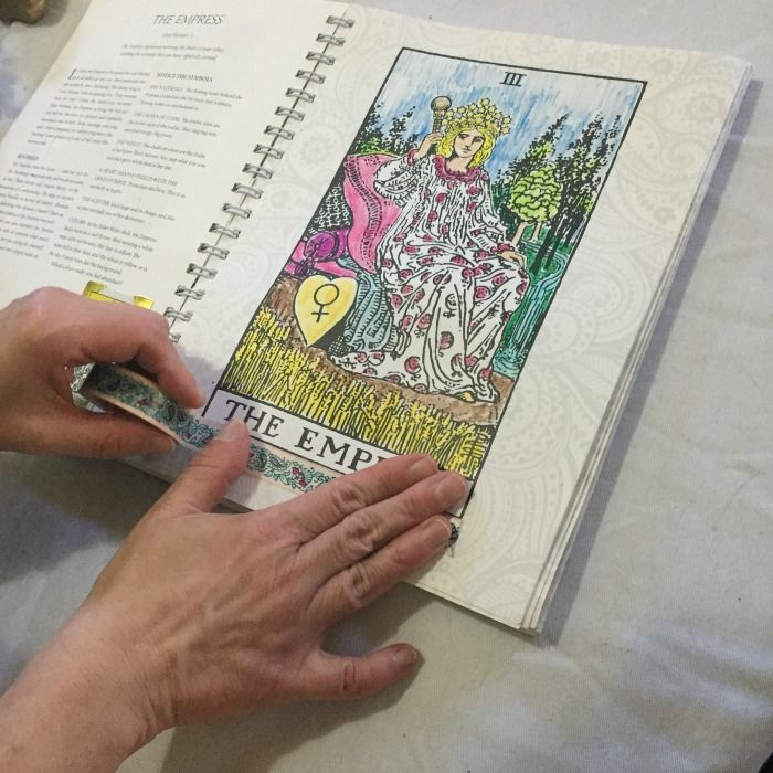 How To Bling The Tarot Coloring Book Washi Tape The Tarot Lady Coloring Books Tarot Color
