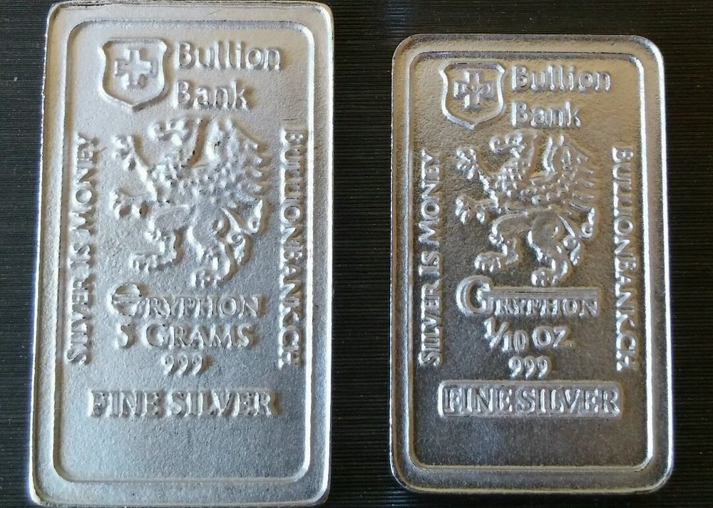5 Gram 1 10 Oz 999 Fine Pure Solid Silver Bar By Bullion Bank Silver Bar Bu Silver Bars Silver Market Silver
