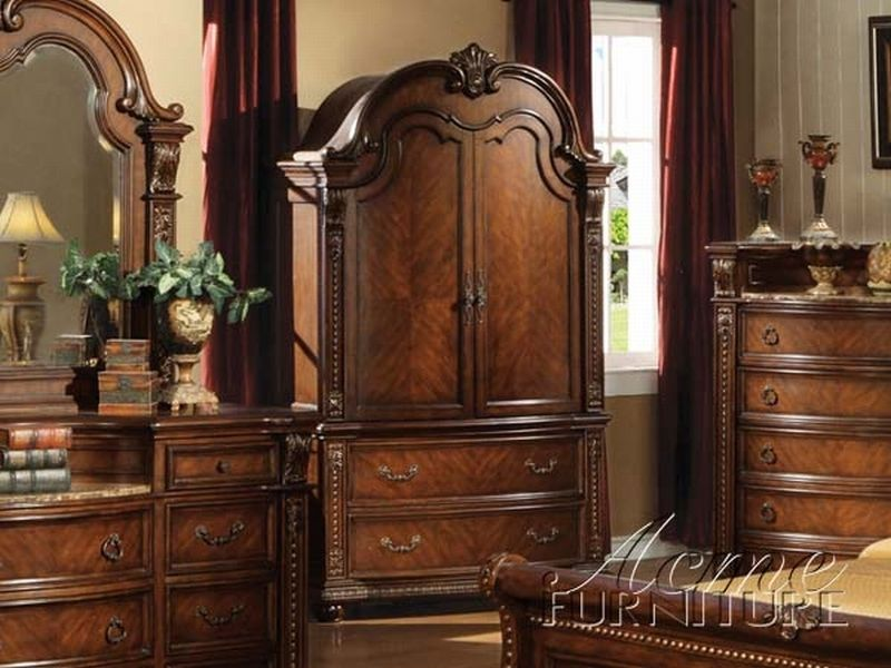 Pick of the Day: Acme Anondale TV Armoire in Brown Cherry