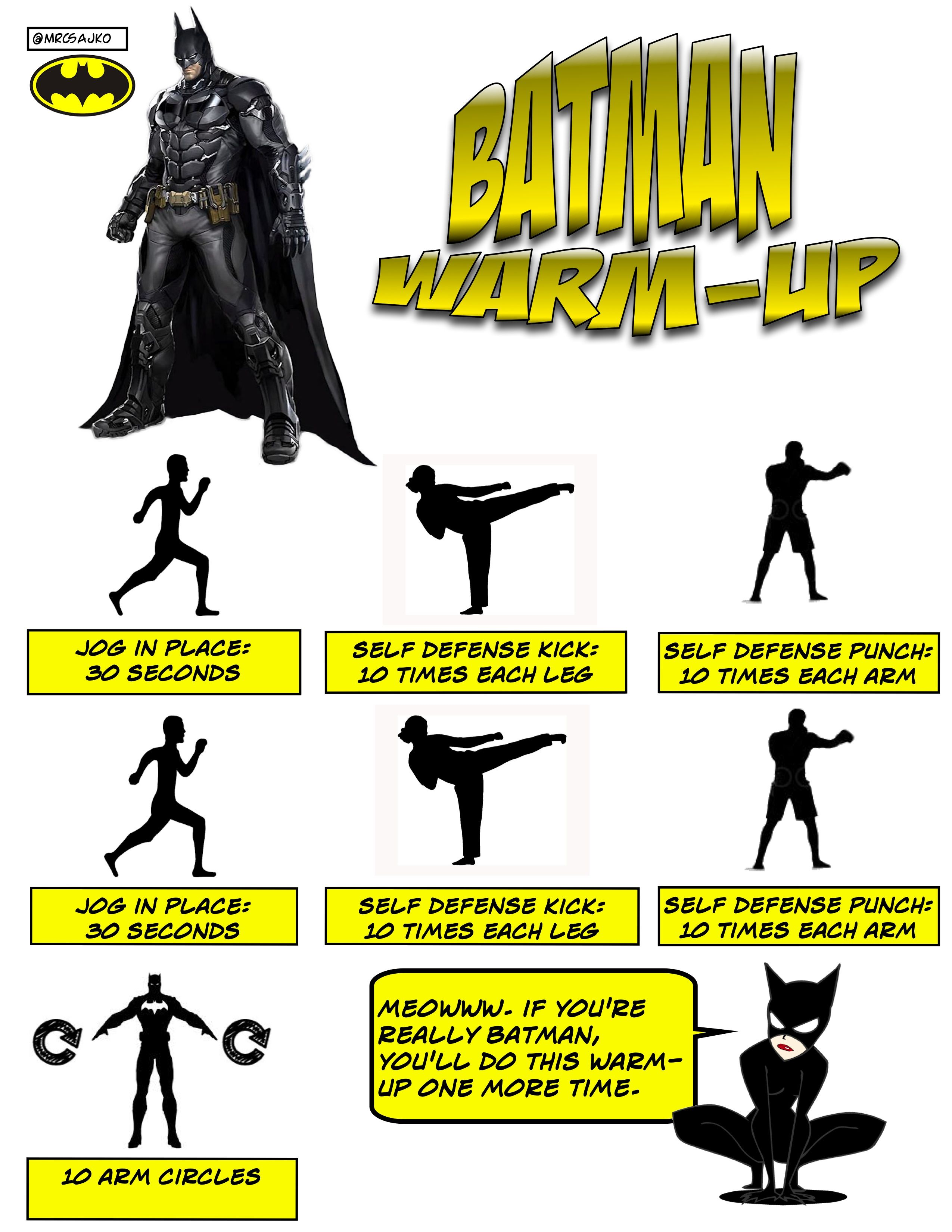 Superhero Warm Ups In Physical Education