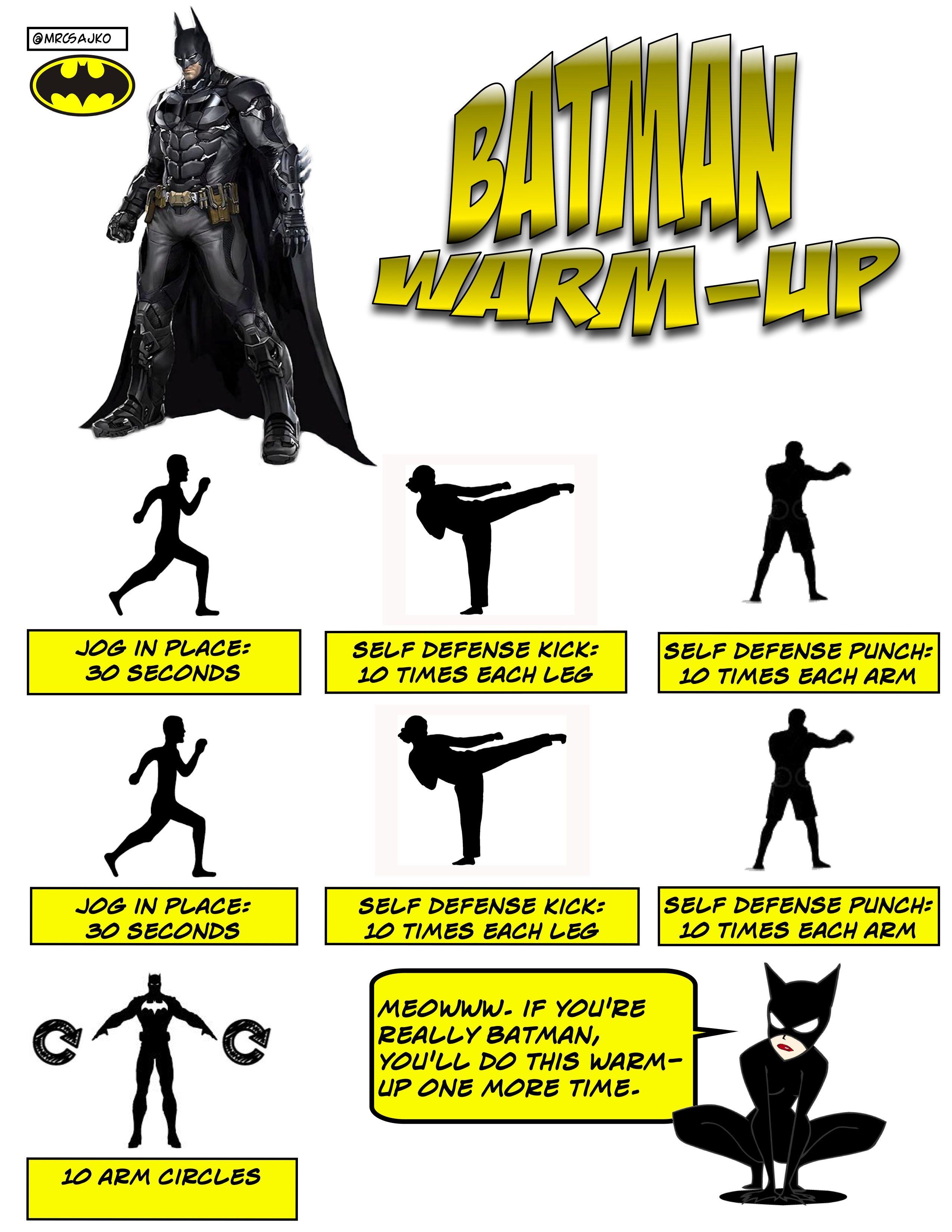 Superhero Warm Ups In Physical Education