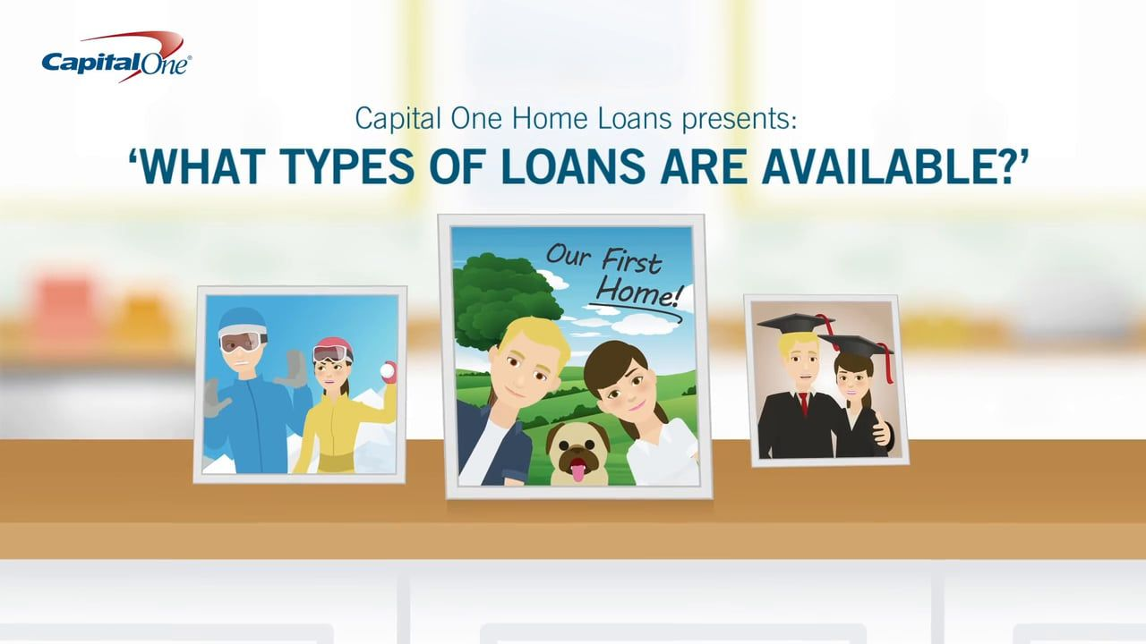 capital one home loans presents what types of loans are available