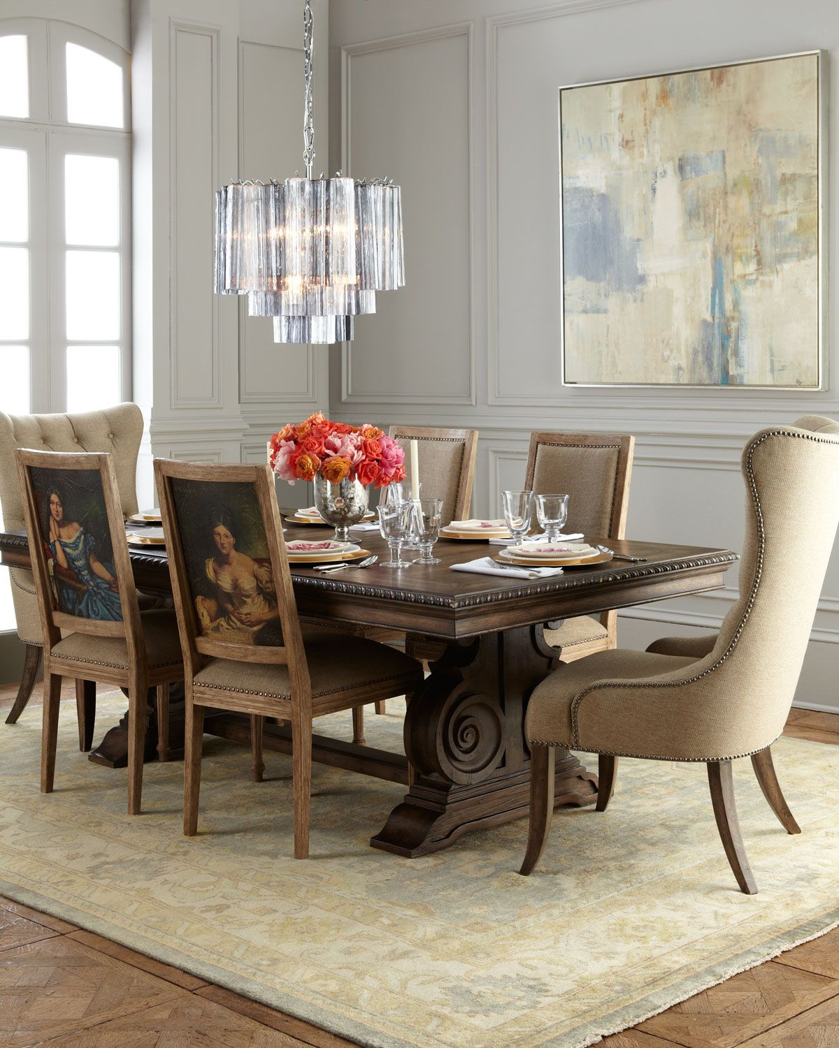 Donabella Dining Table Donabella Tufted Chairs u0026