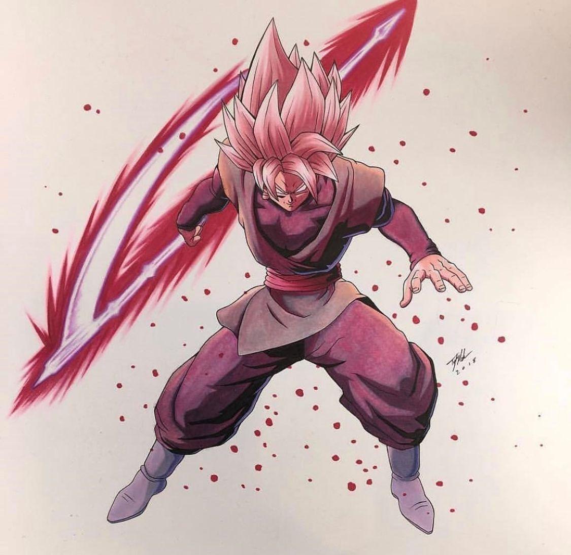 Goku Black Ssjr Dragon Ball Zeichnungen Anime Bilder