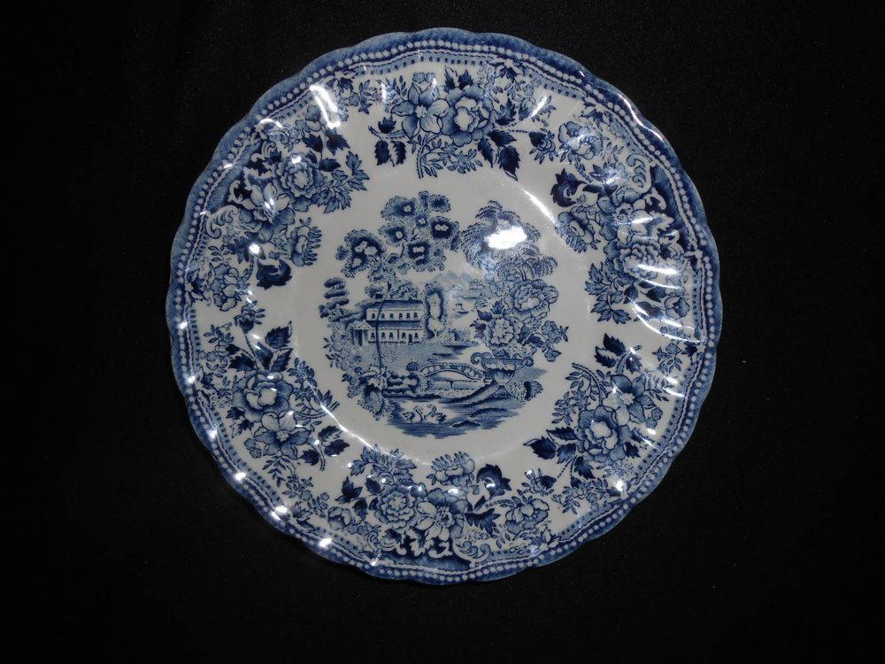 Blue and White STAFFONSHIRE Fine English Tableware CHURCHILL BREADu0026BUTTER PLATE #CHURCHILLSTAFFONSHIRE : churchill english tableware - Pezcame.Com