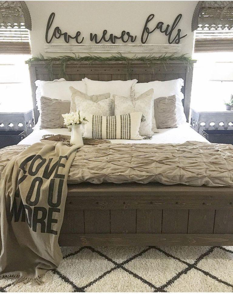 Farmhouse Master Bedroom Decorating Ideas 30 Lit Ferme Meuble