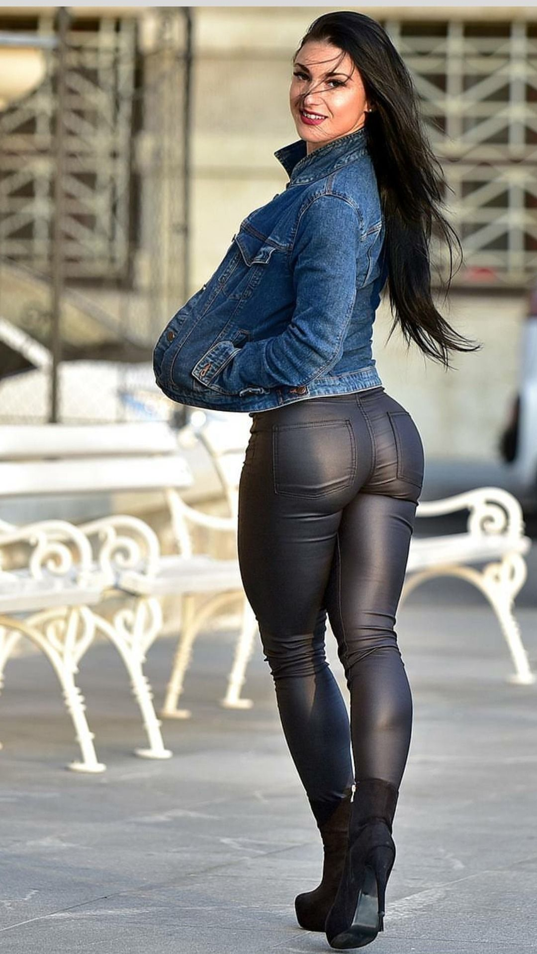 Women tight jeans and pantyhose