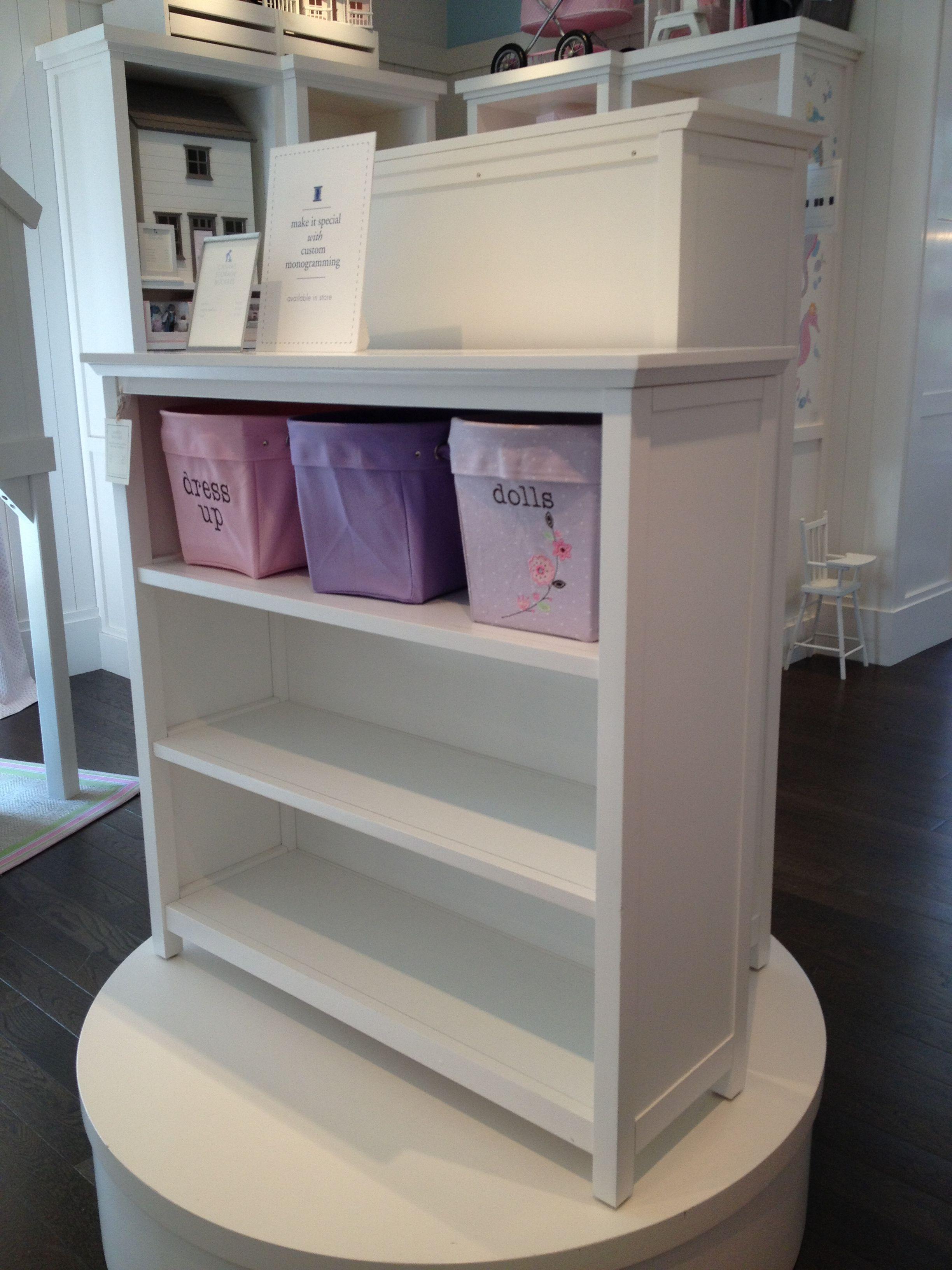 White Pottery Barn Cameron Bookcase