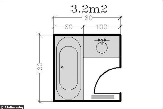 plus de 1000 ides propos de plans amnagement salle de bains sur pinterest - Salle De Bain Petite Surface Avec Baignoire