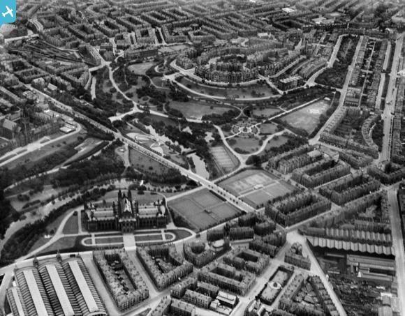 Oblique Aerial Photograph Taken Facing East