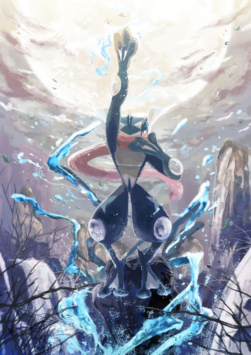 Pokemon Greninja Con Imagenes Fondo De Pantalla Pokemon