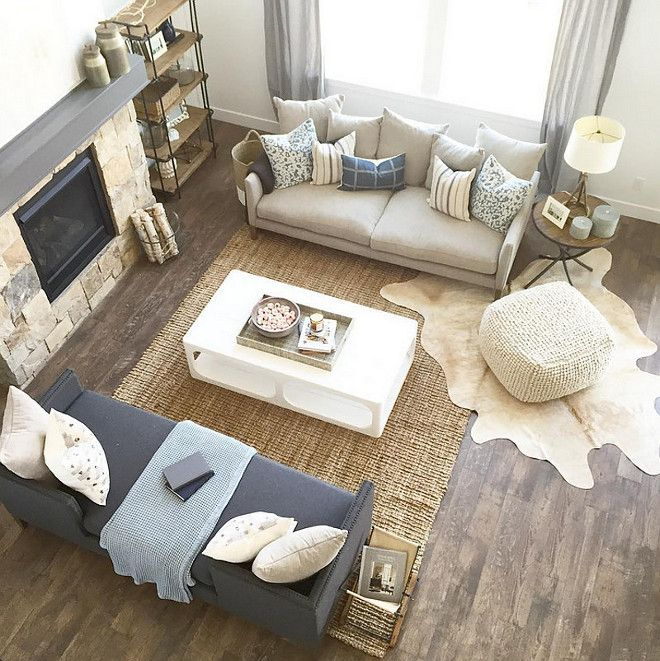 100+ Layering Rugs Living Room Trend 2017 | Farmhouse ...