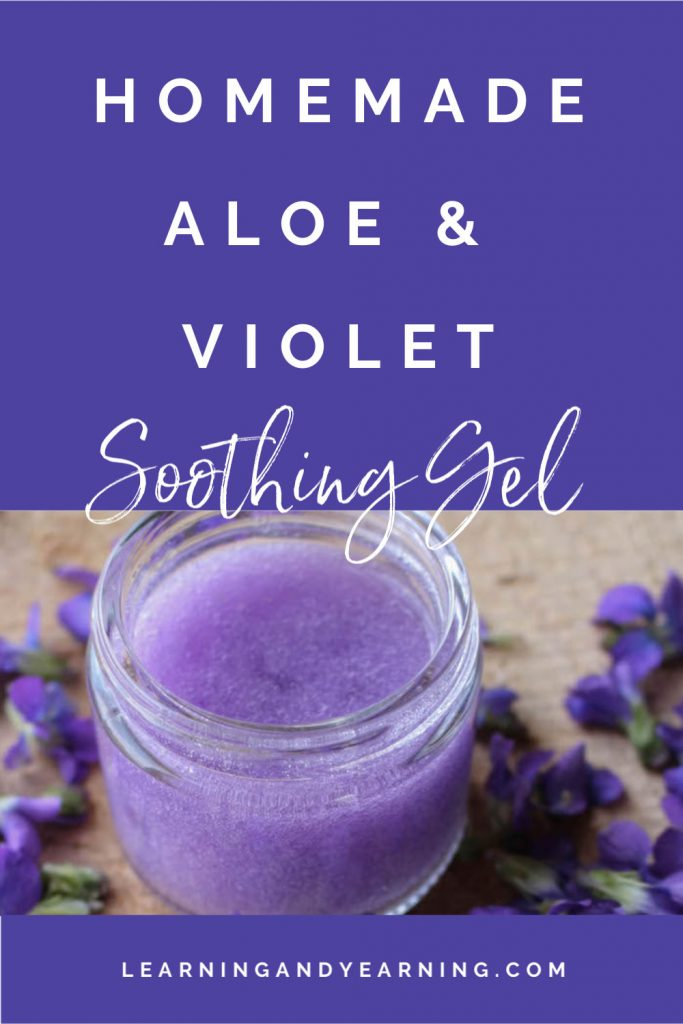 VioletInfused Aloe Soothing Gel in 2020 Aloe, Gel, Skin