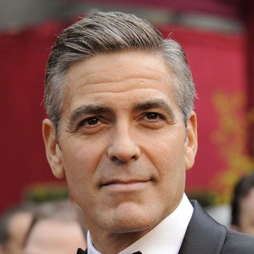 George Clooney S Haircut Beard And Style Have Been Media Favorites Since The Actor S Rise To Promin George Clooney Haircut Classic Haircut George Clooney Hair