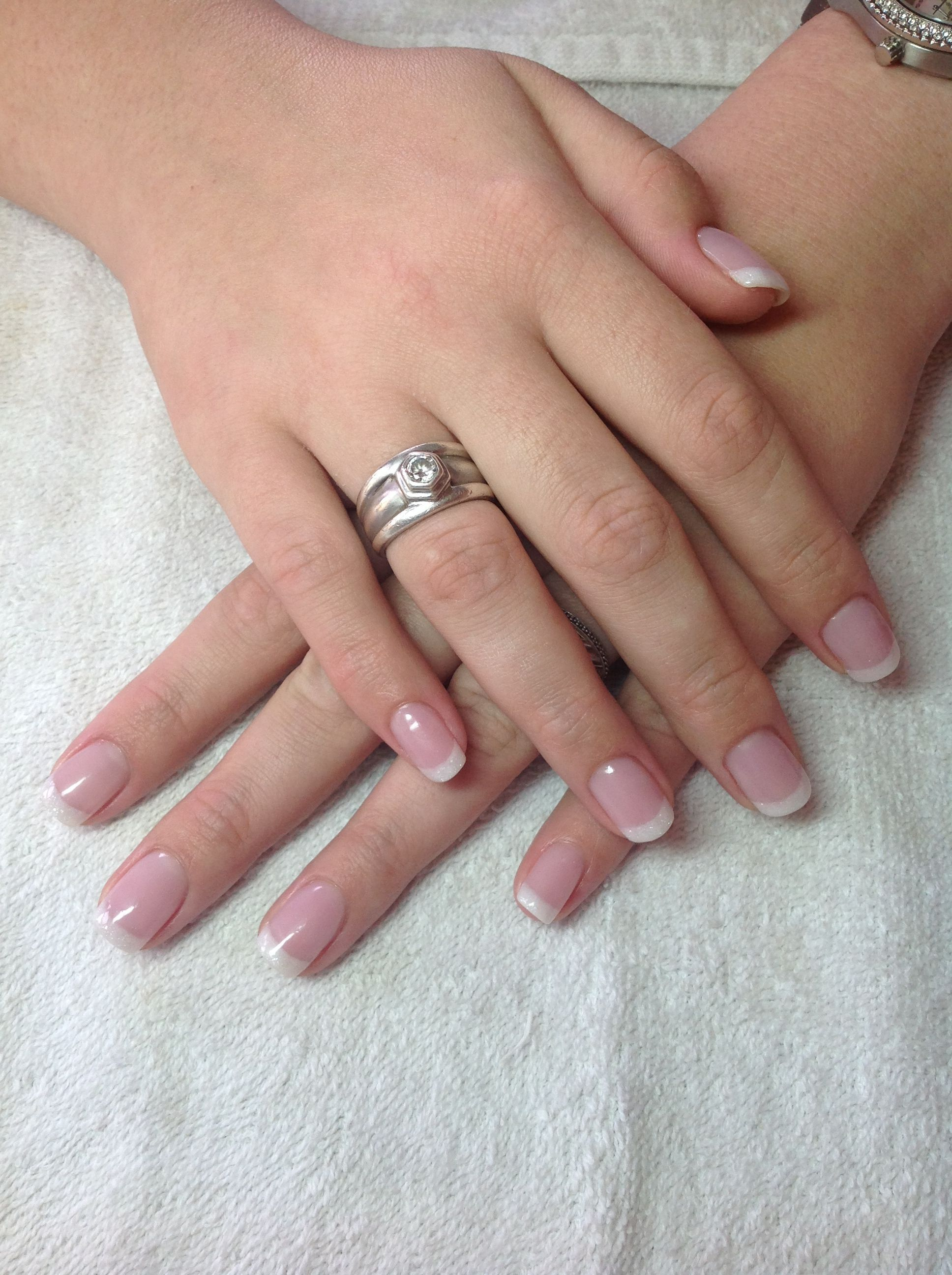 French Acrylic Overlay Acrylicnailsglitter Natural Acrylic Nails French Tip Acrylic Nails French Tip Nails