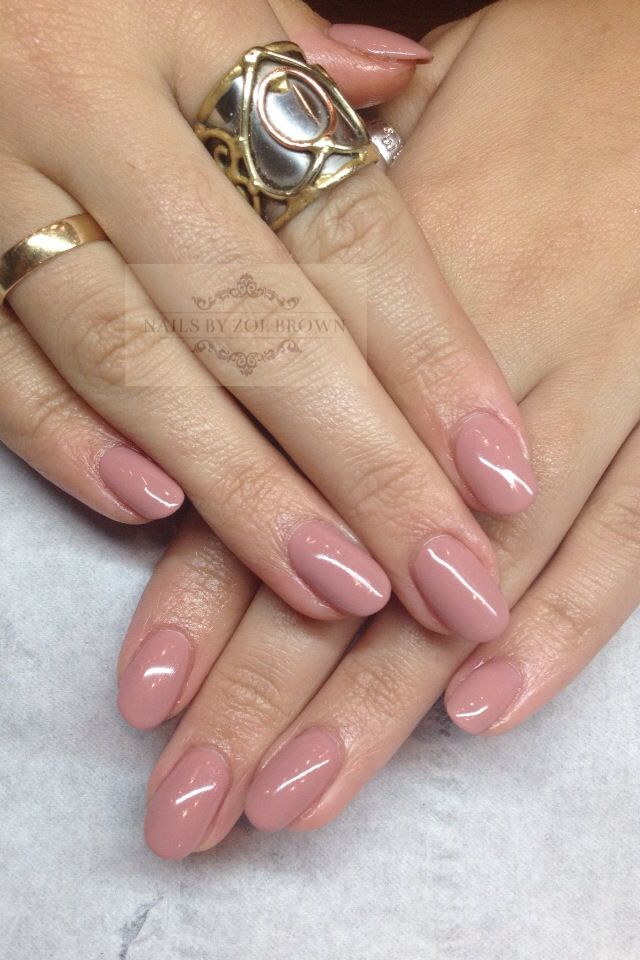 Shellac Acrylic Nails: Acrylic Extensions With CND Shellac In Satin Pyjamas