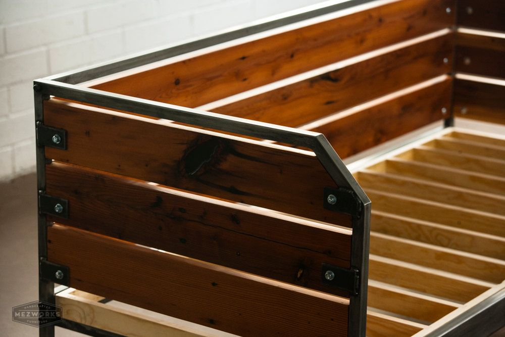 Modern Redwood Daybed or Sofa, Steel Frame, Custom, \'Meyers\' Series ...