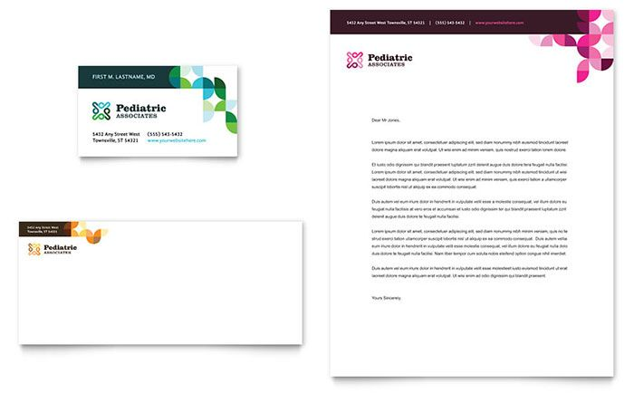 Pediatric Doctor Business Card and Letterhead Template Design by - free business letterhead templates download