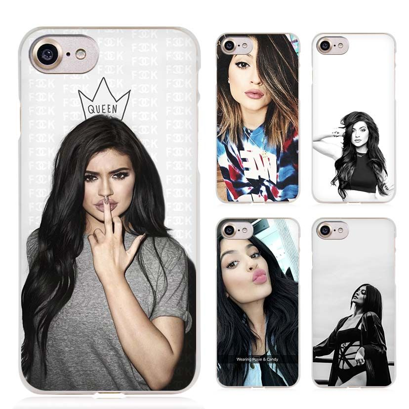 Kylie Jenner Clear Cell Phone Case Cover for Apple iPhone 4 4s 5 5s SE 5c 6 6s 7 Plus