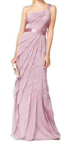 Adrianna Papell Womens Chiffon Tiered Semi Formal Dress Size 8