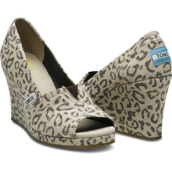 769b5ae4eac TOMS Shoes Snow Leopard Wedges Women 11 ( 69) ❤ liked on Polyvore ...