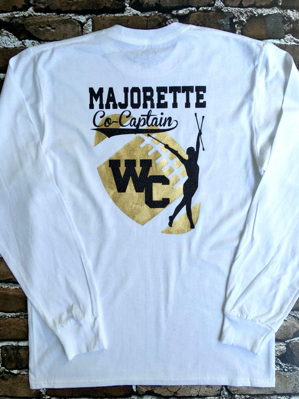 df69f9896 Custom T shirts, Majorette t shirt, School Spirit T shirts by  PoshPrincessBows1…