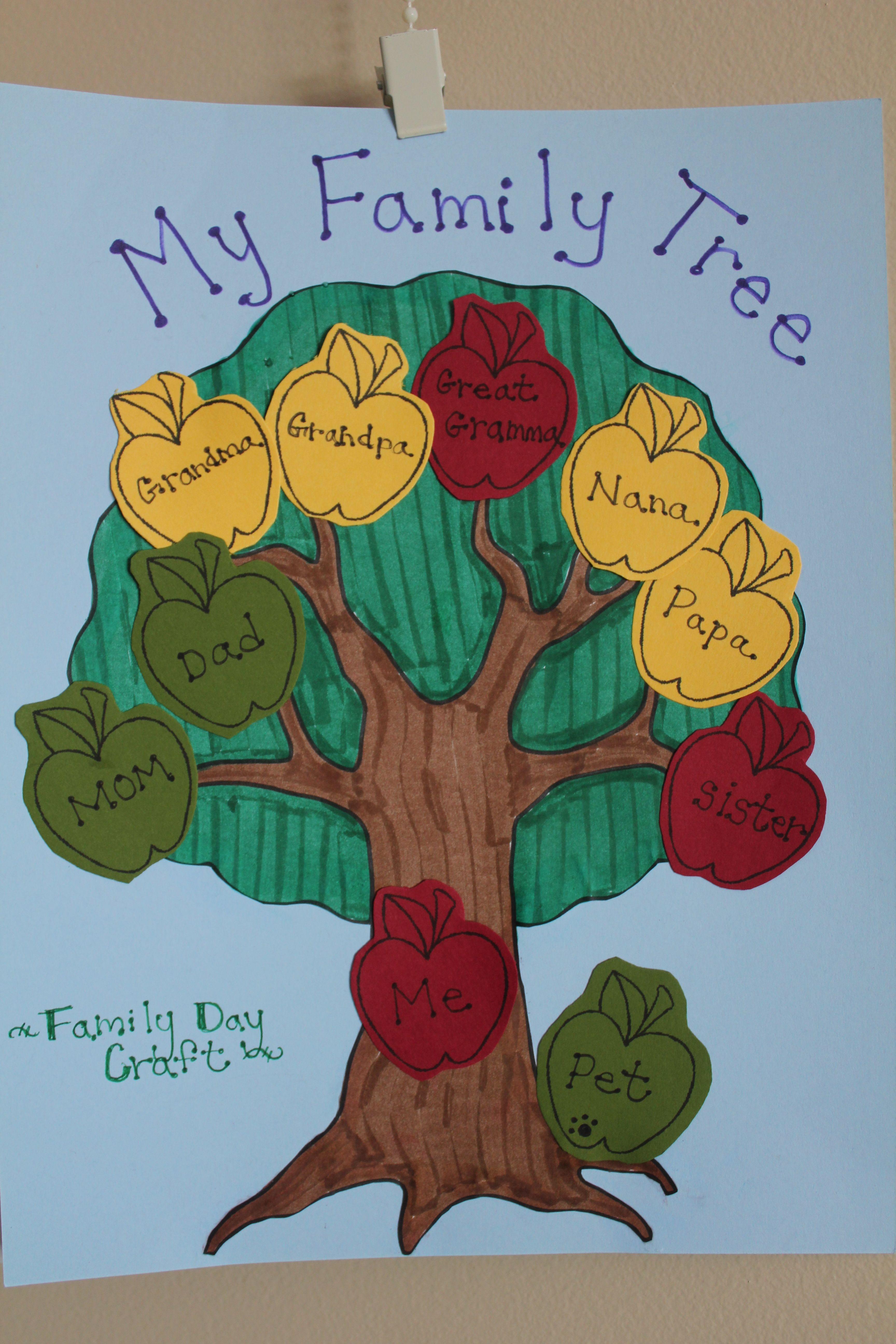 Family Day Craft Idea Alb Holiday