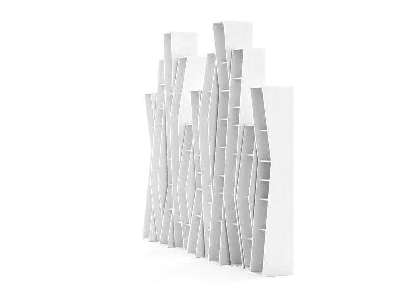 Open sectional wall-mounted bookcase UPTOWN by Opinion Ciatti | design Lapo Ciatti
