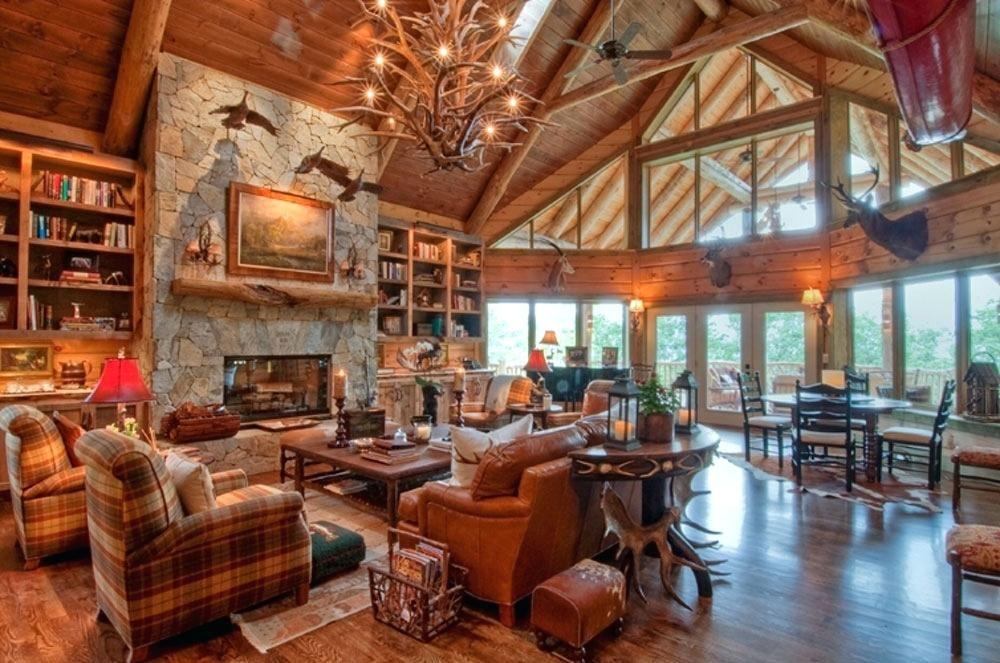 log home interiors cabin design ideas for inspiration 6 log ...
