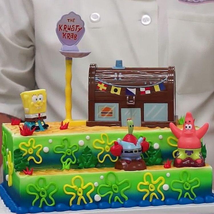 How To Decorate Spongebob Squarepants Krusty Krab Signature Cake