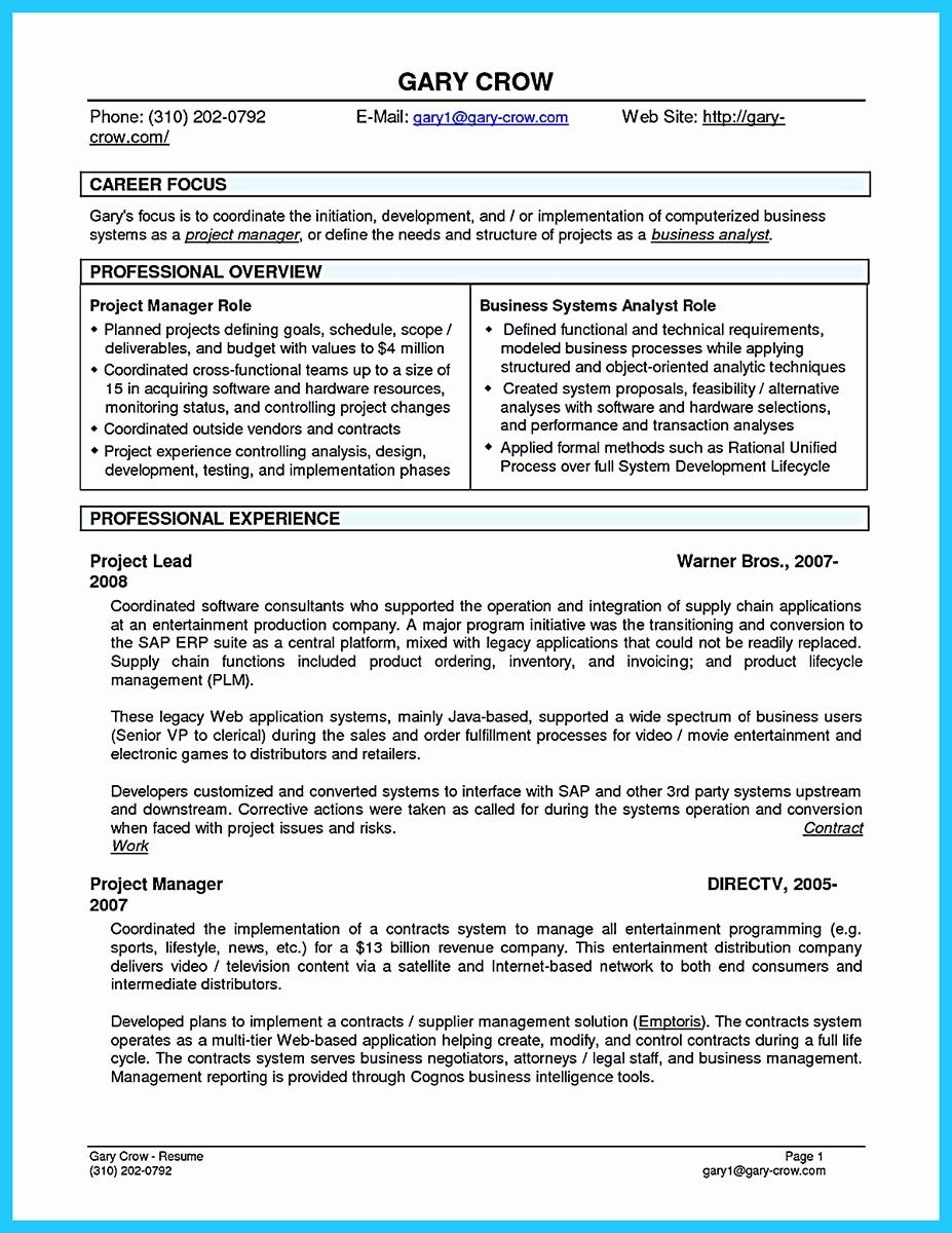 Business Systems Analyst Resume Inspirational Best Secrets About Creating Effective Business Systems Business Analyst Business Systems Business Analyst Resume