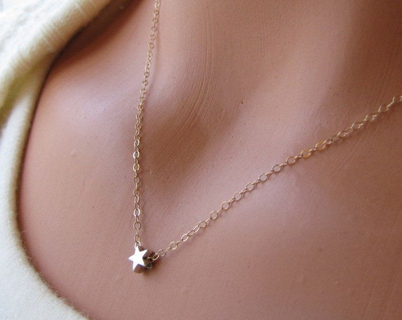 Star Necklace Wish Upon A Star Tiny Floating Twinkle Twinkle Little Star Everyday Jewelry. $17.95, via Etsy.